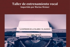 Noviembre 2019 - Taller de Enternamiento Vocal - Enclave