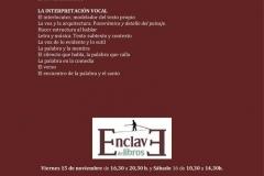 Noviembre 2019 - Taller de Enternamiento Vocal - Enclave (2)