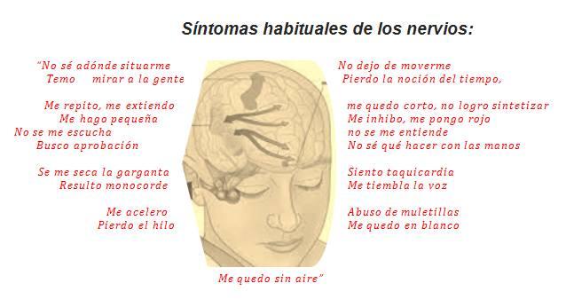 Síntomas habituales de los nervios